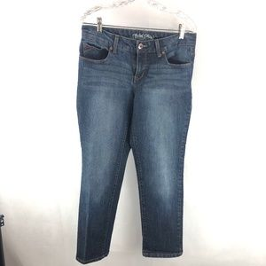 Faded Glory Straight Up Blue Denim Jeans 14P